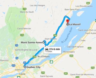 Quebec City map