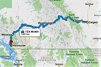 2019 Canada Rockies Ski Map