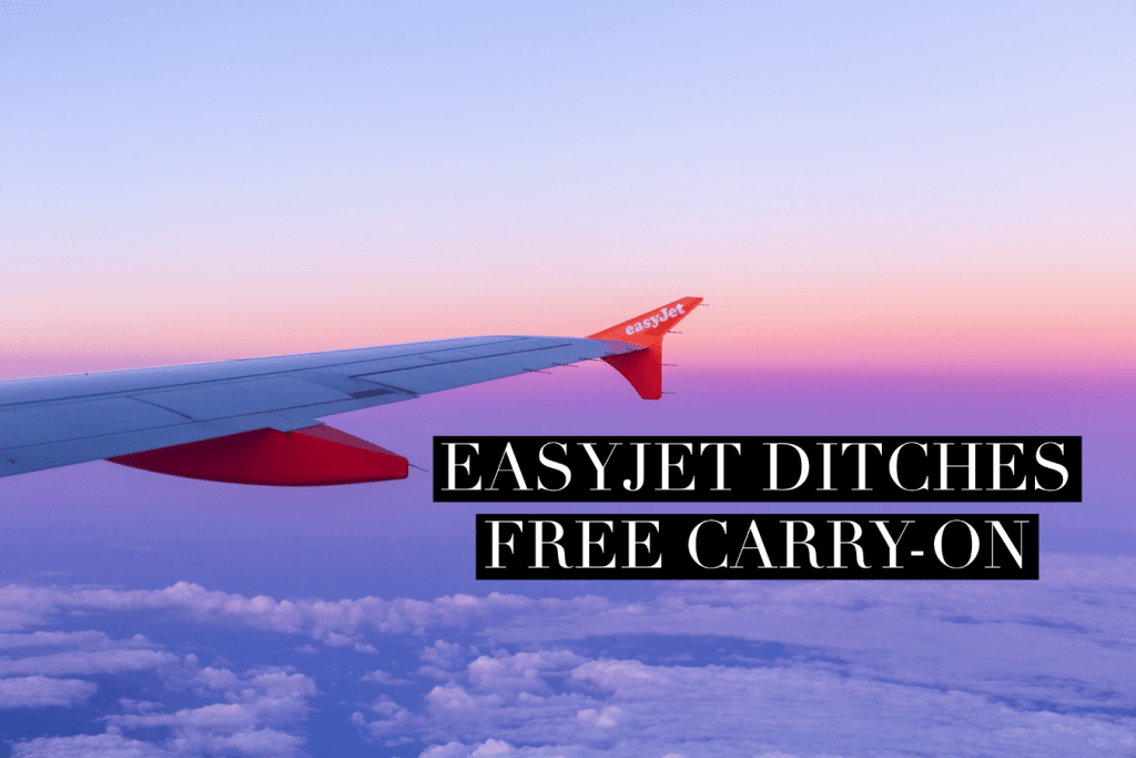 Easyjet wing, sunset,