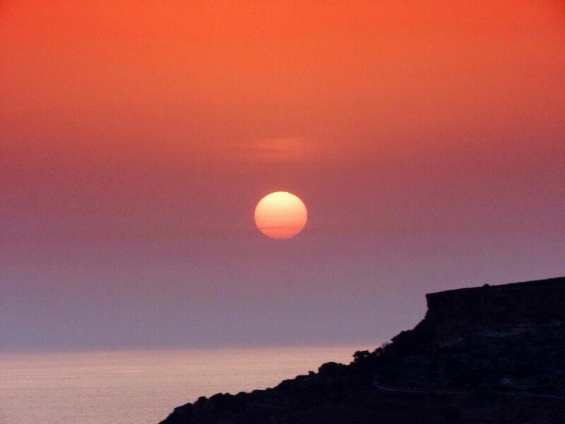 Beautiful Malta sunset