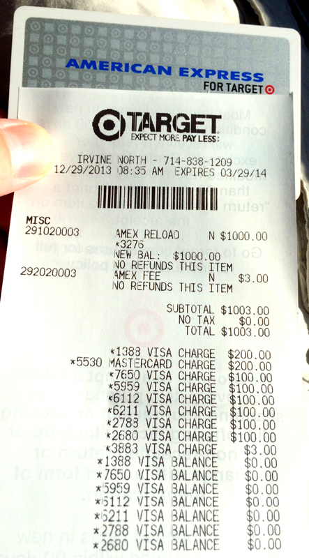 Target Amex Receipt Travel With Grant