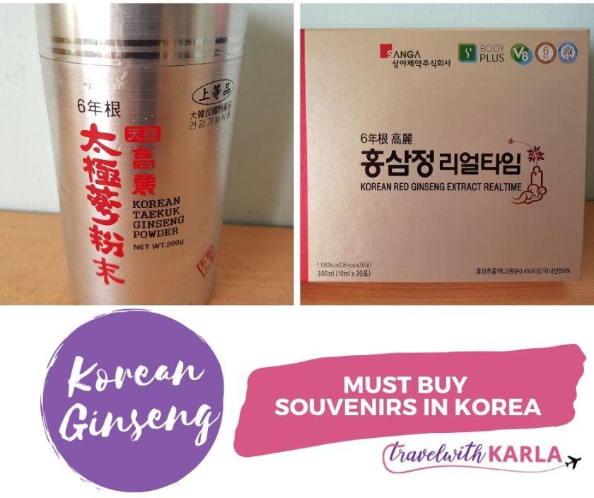 Souvenirs in Korea