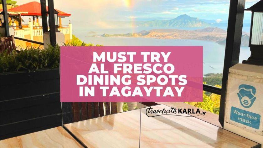 Al Fresco Dining Spots in Tagaytay