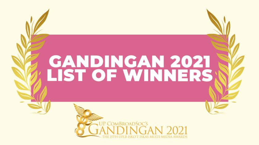 Gandingan 2021: List of Winners