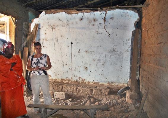 Dairuharu temporary school classroom, The Gambia