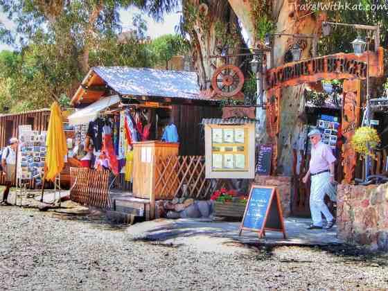 Girolata beach shop