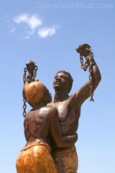 Goree Island pictures | A statue celebrating the end of slavery