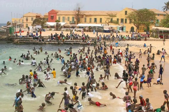 Goree Island swimming