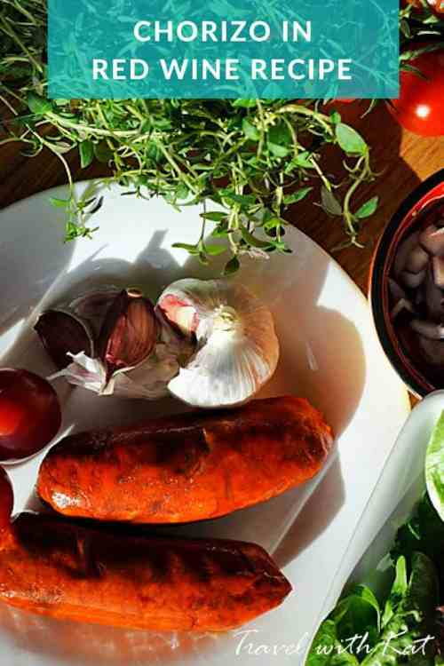 Chorizo in red wine #recipe #tapas #food