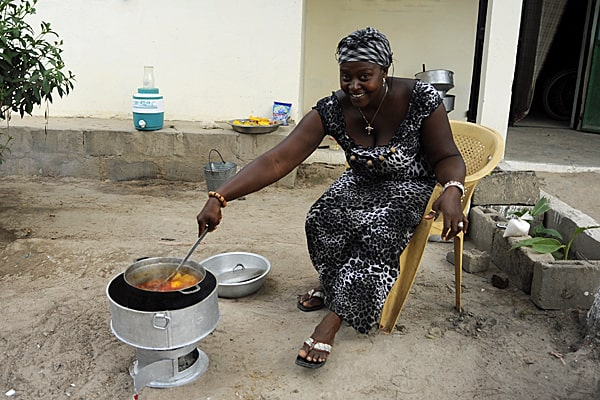 Stoves for peanut briquettes, The Gambia