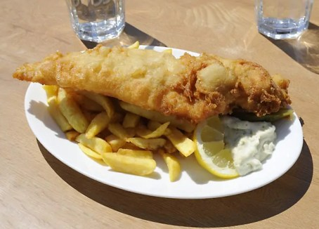 An English favourite - fish 'n' chips