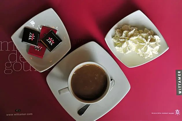 A Wittamer hot chocolate