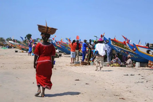 Tanji fishing village in The Gambia
