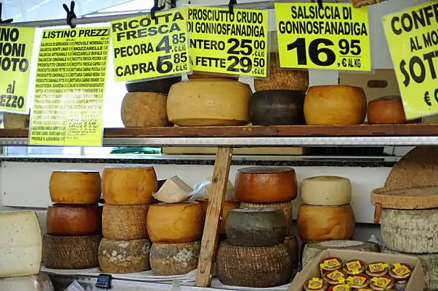 Cheeses at Pula market