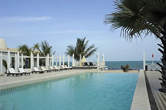 Private pool shared by beach houses and club villas
