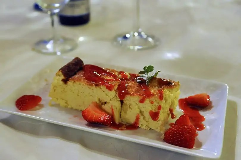 The most ttraditional Corsican dessert - Mousse de brocciu also known as Fiadone