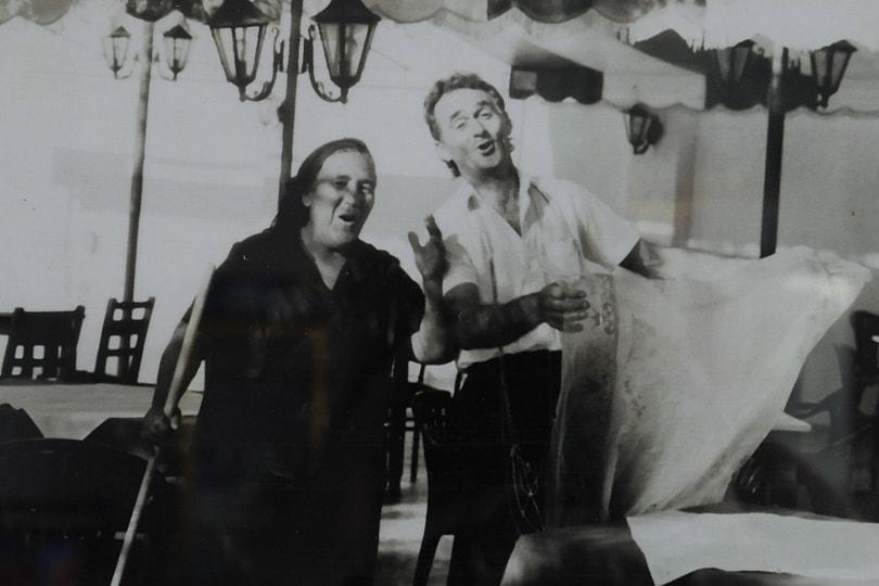Irini singing, Kamari, Santorini, Greece