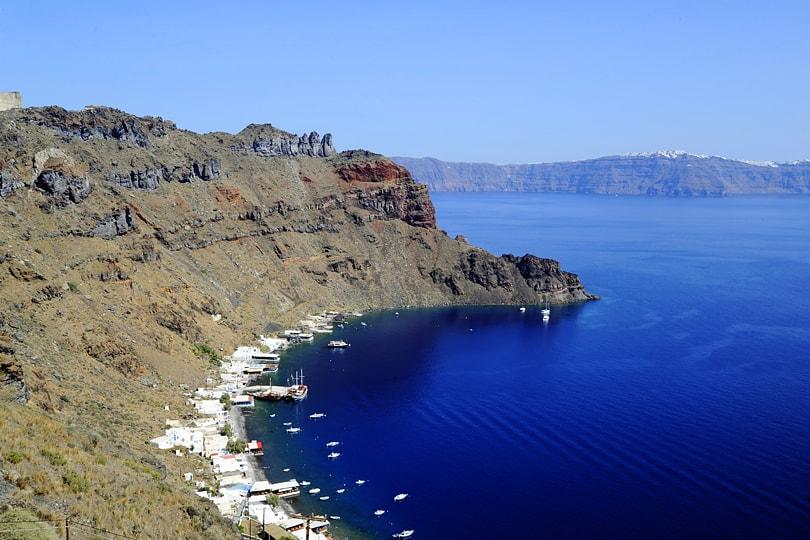 View of the Santorini Caldera from Manolas, Thirassia