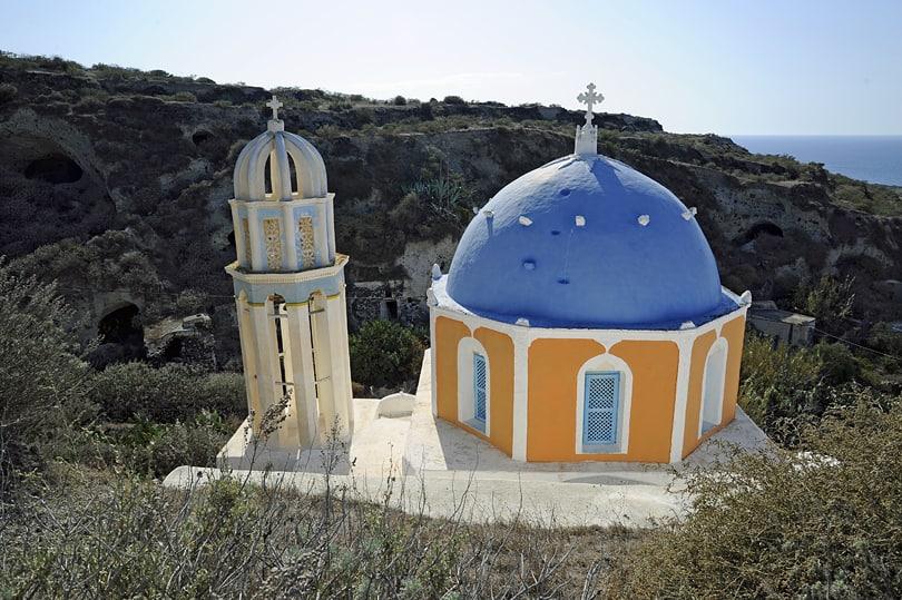 The Church of the Virgin Mary, Agrilia, Therasia, Santorini, Greece