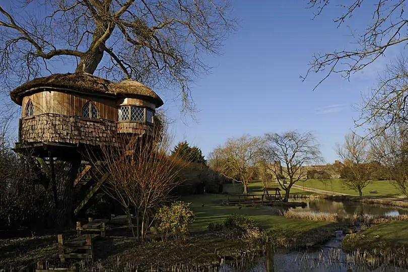 Tree house at Amberley Castle, West Sussex, England