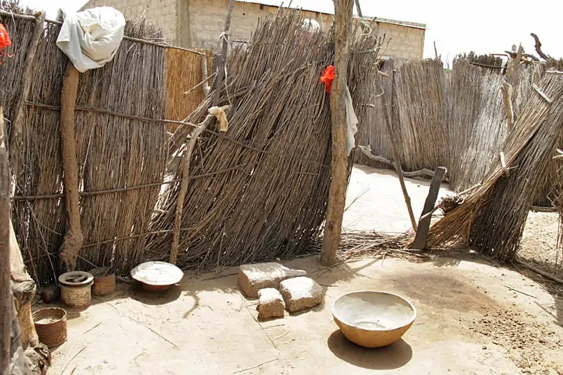 Senegalese rural bathroom