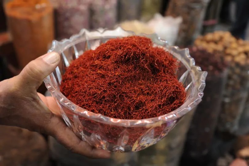Saffron in Dubai Spice Souk