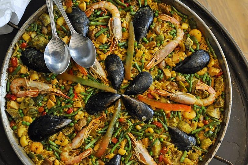 Paella at Hotel Bon Sol, Mallorca