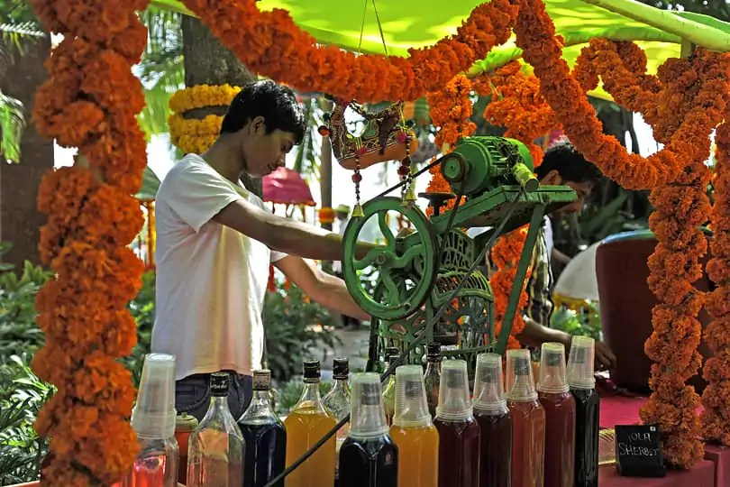 Goa Highlights: Colourful drinks being served at an Indian wedding.
