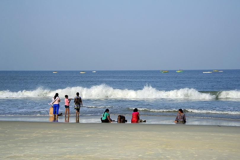 Colva beach early in the morning, Goa, India