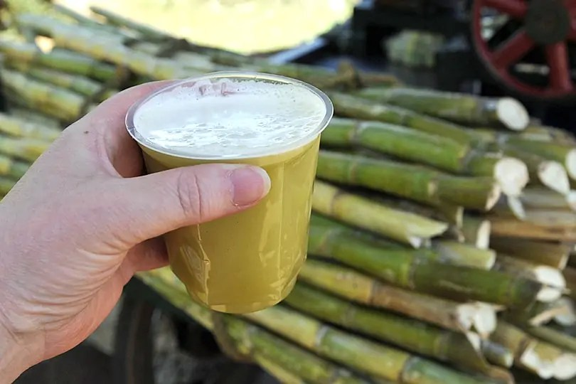 Freshly squeezed sugar cane drink, Goa, India
