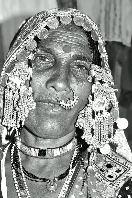 Indian black and white photography by travel photographer, Kathryn Burrington