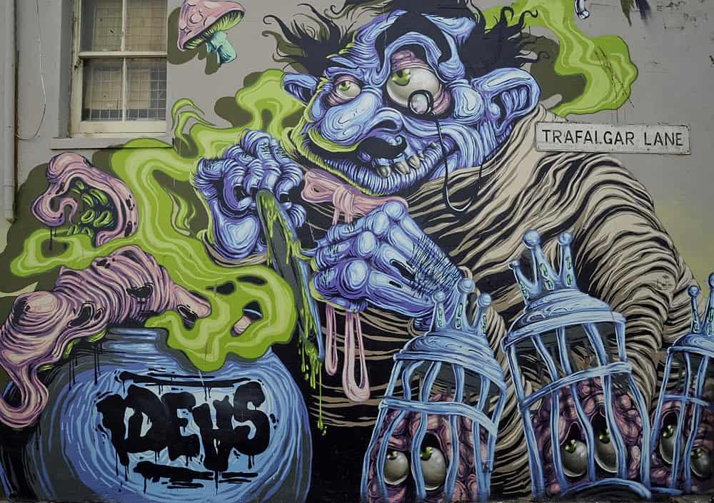 Trafalgar Lane Street Art, Brighton