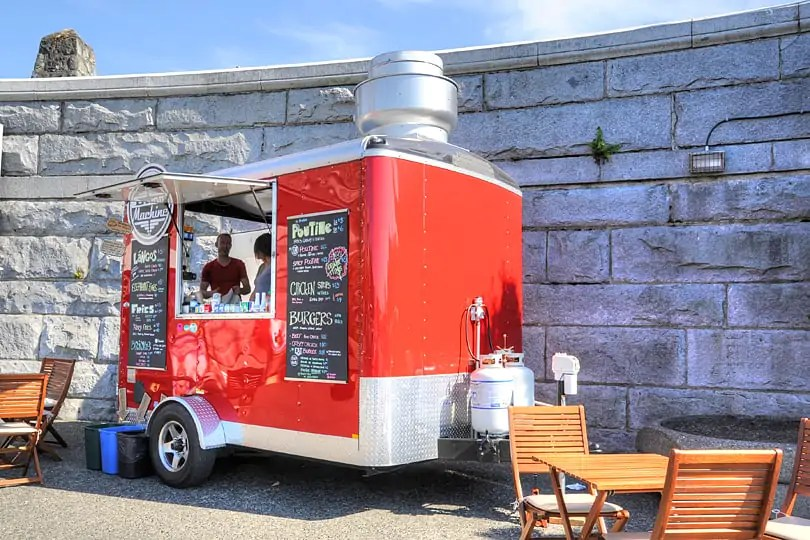 Food Truck by Victoria's Inner Harbour, British Columbia, Canada