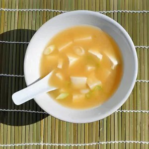 Simple. quick and easy miso soup with tofu recipe