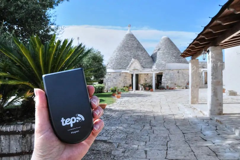 Using Tep Wireless in Puglia to access the internet on the go
