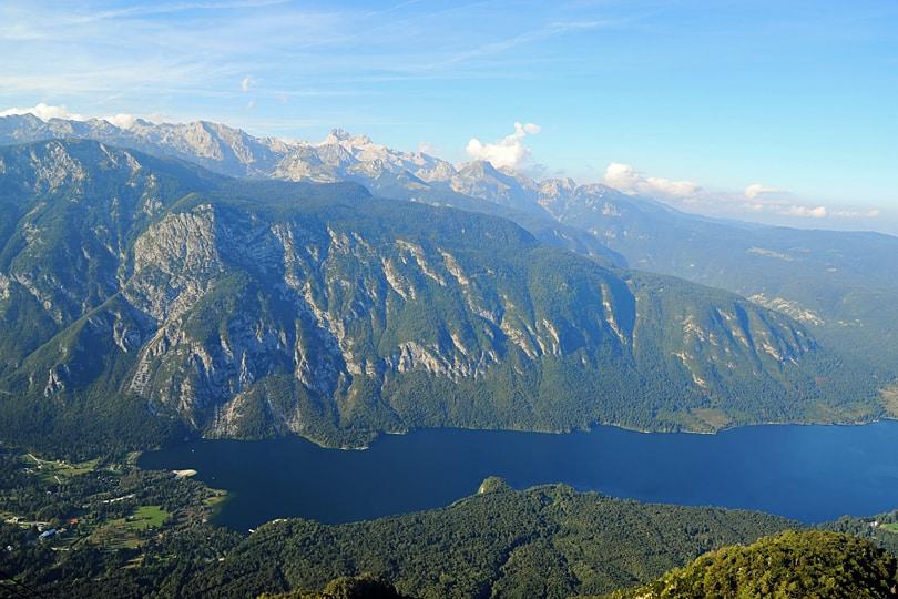 Lake Bohinj from Mount Vogel