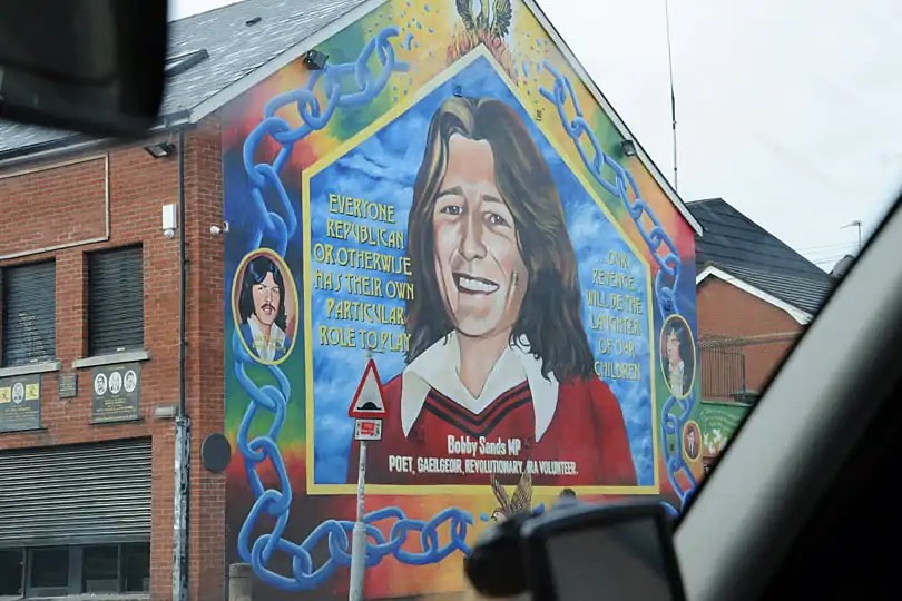 Bobby Sands mural in Belfast