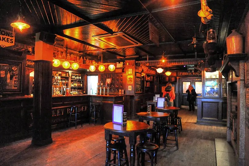 Fibber Magees,long before the punters started arriving for the next gig