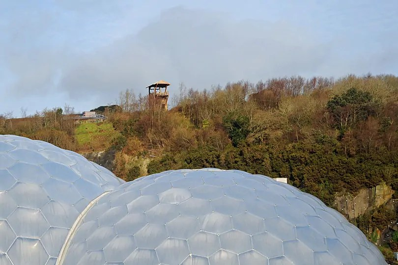 the start of the zip wire over the Eden Project, Cornwall