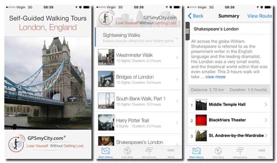 GPSmyCIty - London walking tour app