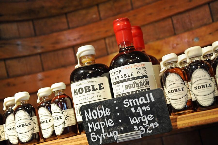 Noble Maple Syrup at Edible Canada, Granville Island, Vancouver, British Columbia, Canada