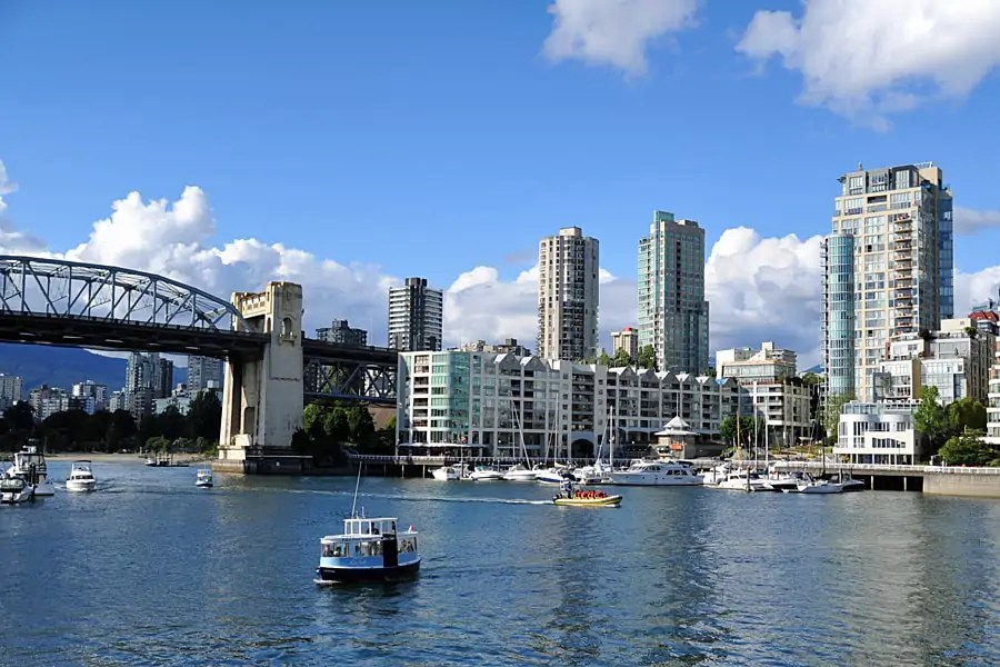 View of Vancouver from Granville Island, British Columbia, Canada