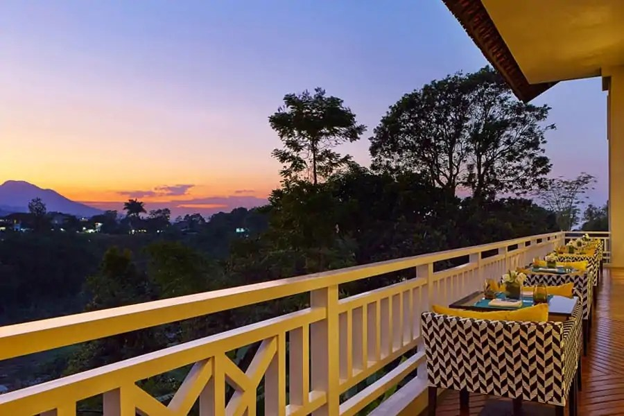 Views from the Sheraton Bandung, Java, Indoenesia