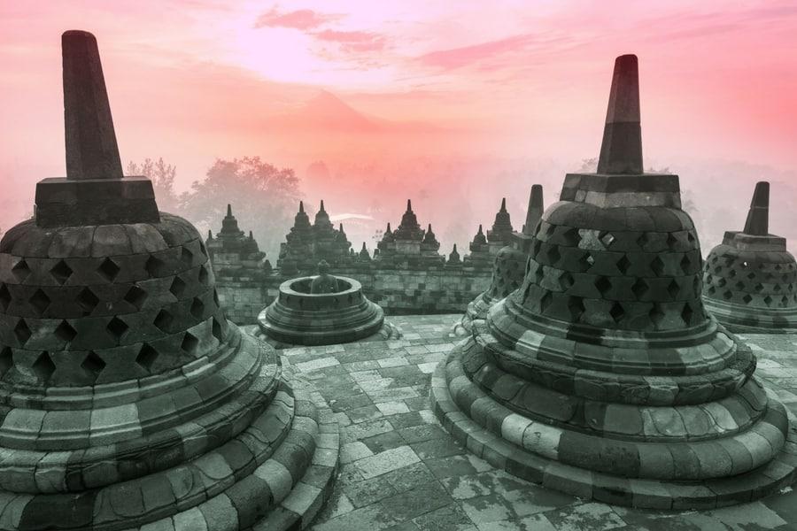 Borobudur Temple, near Yogyakarta, Java, Indoneia
