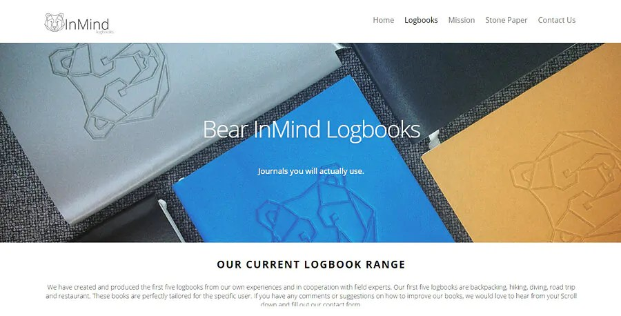 Sustainable and eco friendly logbooks for travellers