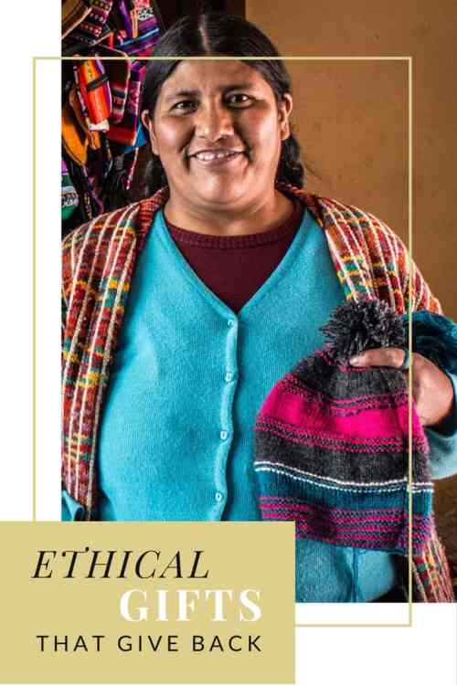 Ethical gifts and gifts that give back