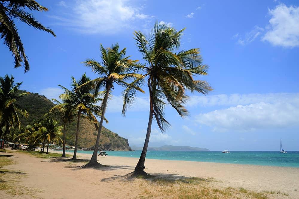 Frigate Bay, St Kitts, a magical unspoilt Caribbean island