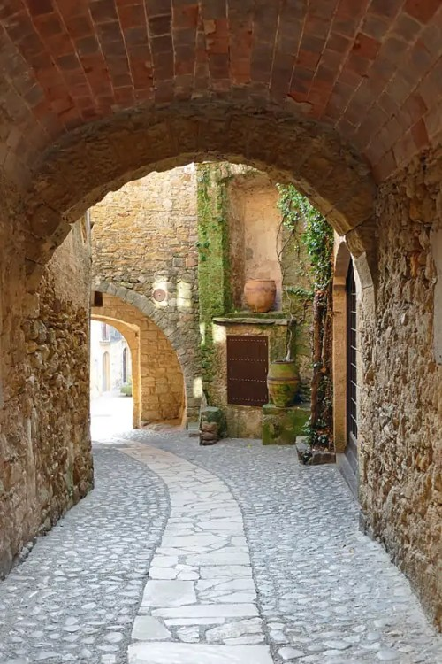 The medieval village of Pals in Spain