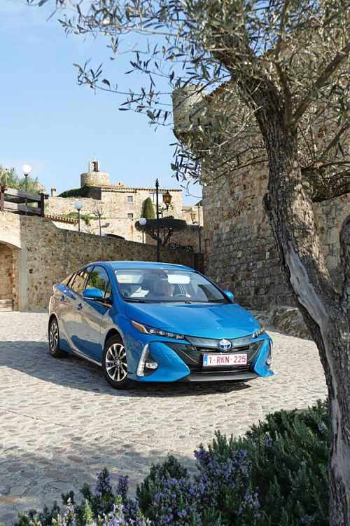 Prius Plug-in Hybrid in Pals, Catalonia, Spain