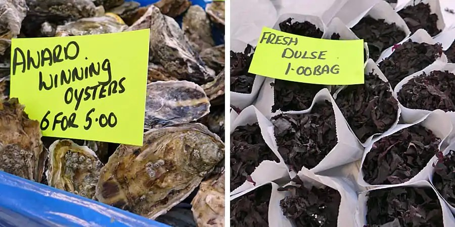 Seafood at St George's Market, Belfast